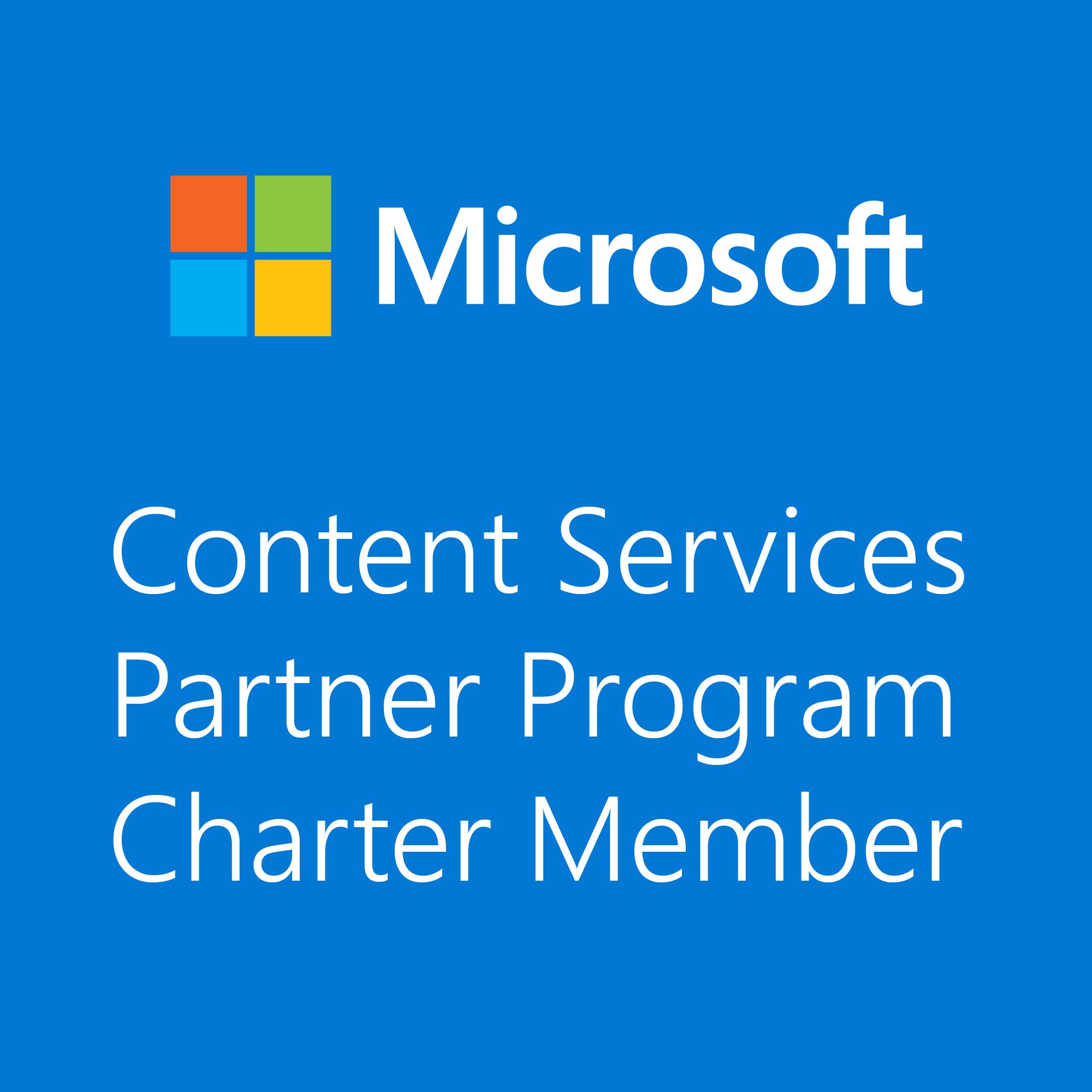 Microsoft Content Serv Charter Member