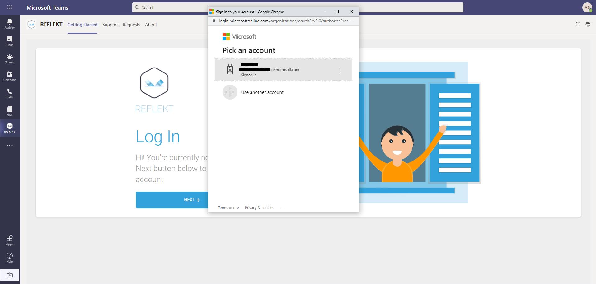Microsoft Teams Install Add Reflekt