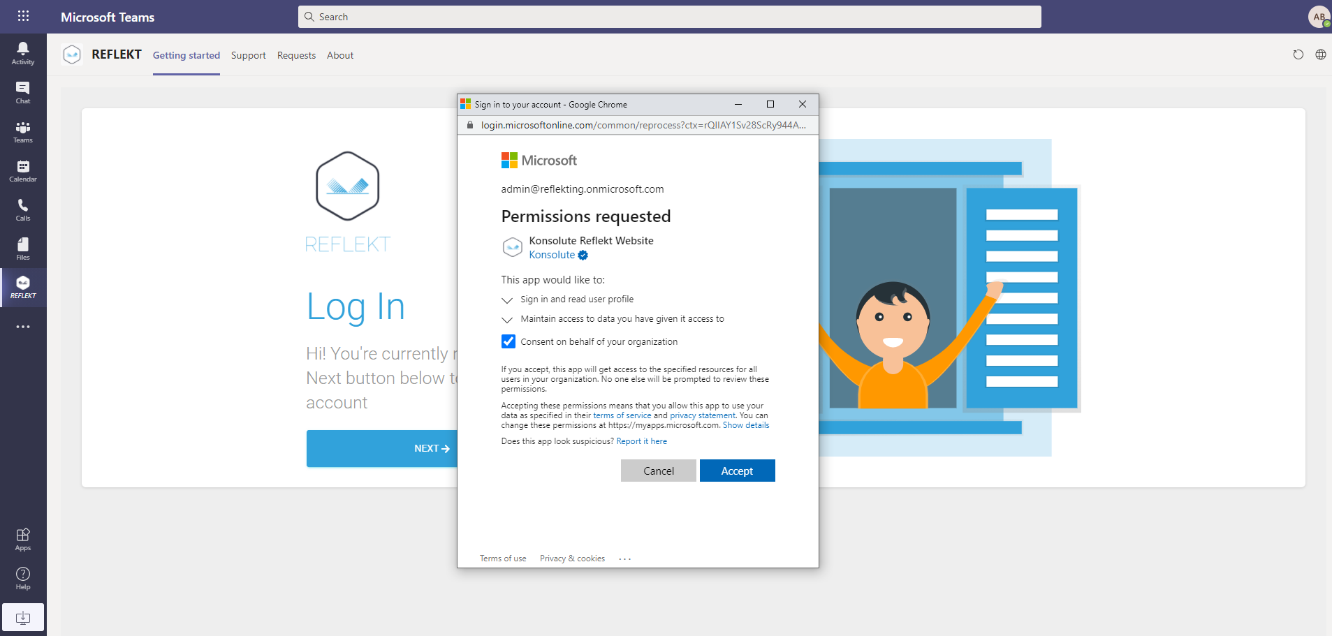 Reflekt Users Read Permissions Required